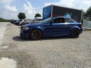 BMW 1er-M-coupe vollbeklebung blau metallic vfv-werbetechnik cfc muenchen01