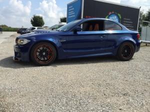 BMW 1er-M-coupe vollbeklebung blau metallic vfv-werbetechnik cfc muenchen10