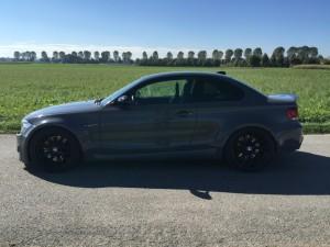BMW 1er M Coupe grau uni vollbeklebung vfv-werbetechnik cfc-muenchen - 1