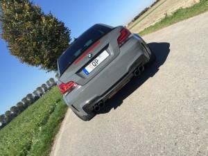 BMW 1er M Coupe grau uni vollbeklebung vfv-werbetechnik cfc-muenchen - 11