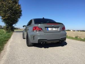 BMW 1er M Coupe grau uni vollbeklebung vfv-werbetechnik cfc-muenchen - 12
