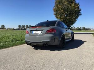 BMW 1er M Coupe grau uni vollbeklebung vfv-werbetechnik cfc-muenchen - 13