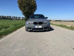 BMW 1er M Coupe grau uni vollbeklebung vfv-werbetechnik cfc-muenchen - 3