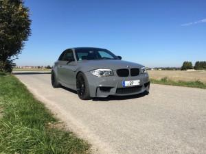 BMW 1er M Coupe grau uni vollbeklebung vfv-werbetechnik cfc-muenchen - 4