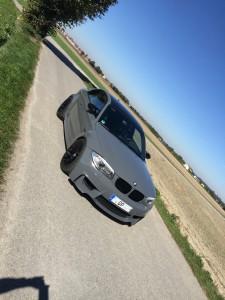 BMW 1er M Coupe grau uni vollbeklebung vfv-werbetechnik cfc-muenchen - 5