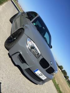 BMW 1er M Coupe grau uni vollbeklebung vfv-werbetechnik cfc-muenchen - 7