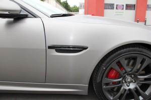 Jaguar XKR S vollbeklebung vfv brushed titanium 13