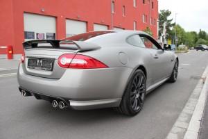 Jaguar XKR S vollbeklebung vfv brushed titanium 16