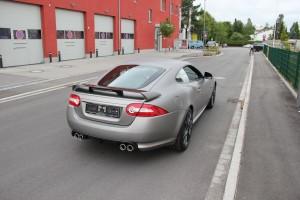 Jaguar XKR S vollbeklebung vfv brushed titanium 17