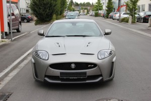 Jaguar XKR S vollbeklebung vfv brushed titanium 5