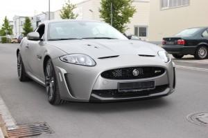 Jaguar XKR S vollbeklebung vfv brushed titanium 6