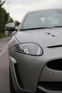 Jaguar XKR S vollbeklebung vfv brushed titanium 8